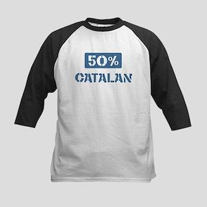 50 Percent Catalan Kids Baseball Jersey