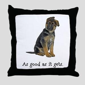 Good German Shepherd Throw Pillow
