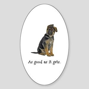 Good German Shepherd Oval Sticker