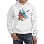 Dragonfly & Wild Rose Hooded Sweatshirt