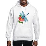 Dragonfly & Wild Rose Hooded Sweatshirt