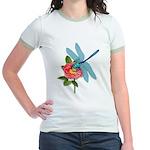 Dragonfly & Wild Rose Jr. Ringer T-Shirt