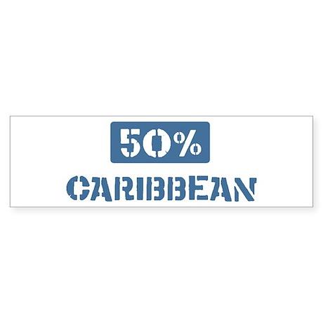 50 Percent Caribbean Bumper Sticker