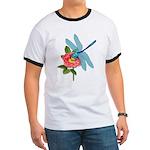 Dragonfly & Wild Rose Ringer T