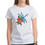 Dragonfly & Wild Rose Women's T-Shirt