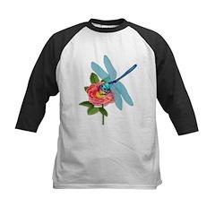 Dragonfly & Wild Rose Kids Baseball Jersey