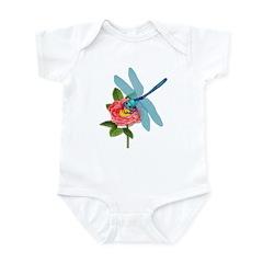 Dragonfly & Wild Rose Infant Bodysuit