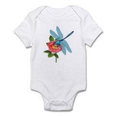 Dragonfly & Wild Rose Infant Bodysuit