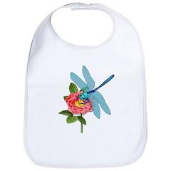 Dragonfly & Wild Rose Bib