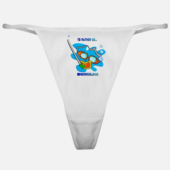 I'd Rather be Snorkeling Classic Thong
