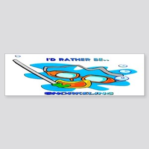 I'd Rather be Snorkeling Bumper Sticker
