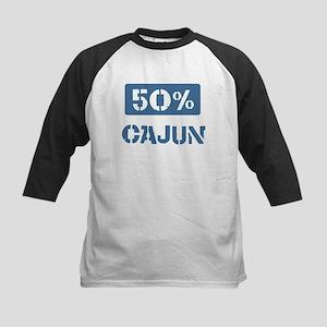 50 Percent Cajun Kids Baseball Jersey