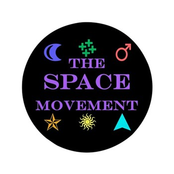 """The Space Movement 3.5"""" Button (100 pack)"""