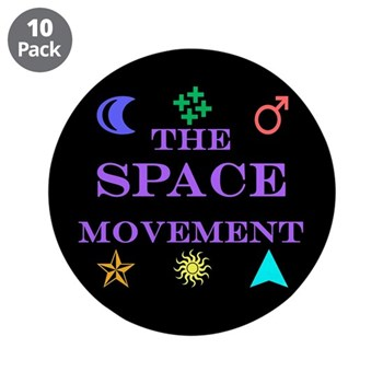 """The Space Movement 3.5"""" Button (10 pack)"""