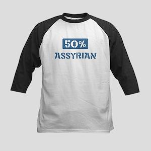 50 Percent Assyrian Kids Baseball Jersey