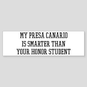Smart My Presa Canario Bumper Sticker
