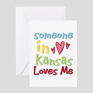 Someone in Kansas Loves Me Greeting Card