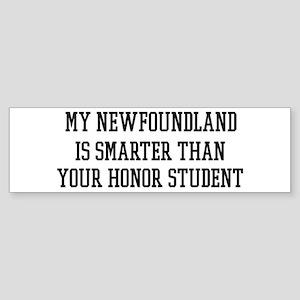 Smart My Newfoundland Bumper Sticker