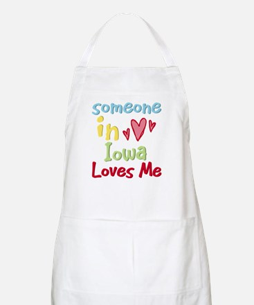 Someone in Iowa Loves Me BBQ Apron