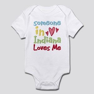 Someone in Indiana Loves Me Infant Bodysuit