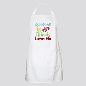 Someone in Illinois Loves Me BBQ Apron