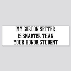 Smart My Gordon Setter Bumper Sticker