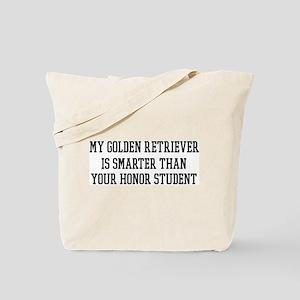Smart My Golden Retriever Tote Bag