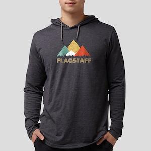 Retro City of Flagstaff Mounta Long Sleeve T-Shirt