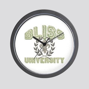 Bliss Last Name University Wall Clock
