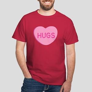 Hugs Candy Heart Dark T-Shirt
