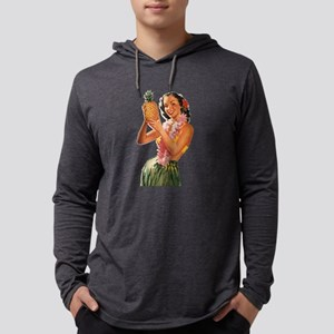 Retro Hawaiian Girl Long Sleeve T-Shirt