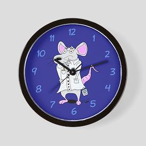 Lab Rat Scientist Wall Clock