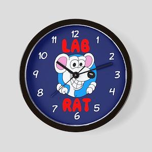Science Geek Lab Rat Blue Wall Clock