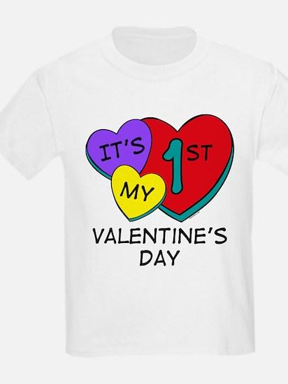 1st Valentine's Day Hearts T-Shirt