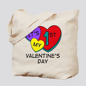 1st Valentine's Day Hearts Tote Bag
