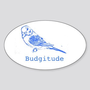 Budgitude Oval Sticker
