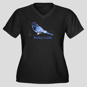 Budgitude Women's Plus Size V-Neck Dark T-Shirt