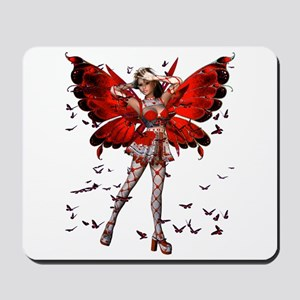 Butterfly Kisses Ruby Mousepad