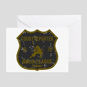 Court Reporter Ninja League Greeting Cards (Pk of
