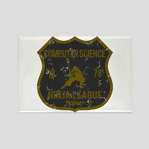 Computer Science Ninja League Rectangle Magnet