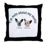 Chewie and Lucky Throw Pillow