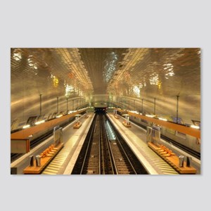Paris Metro Postcards (Package of 8)