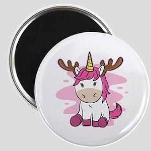 Funny Cute Christmas Xmas Pink Unicorn Hol Magnets