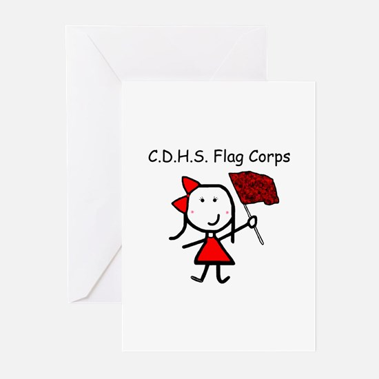 Guard - C.D.H.S. Flag Corps Greeting Cards (Pk of