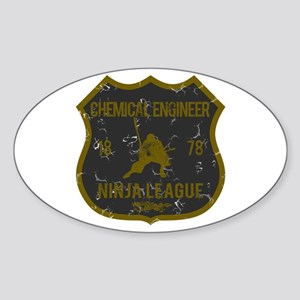 Chemical Engineer Ninja League Oval Sticker