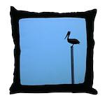Pelican Bird Watching Throw Pillow
