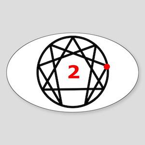 Enneagram Type 2 Oval Sticker
