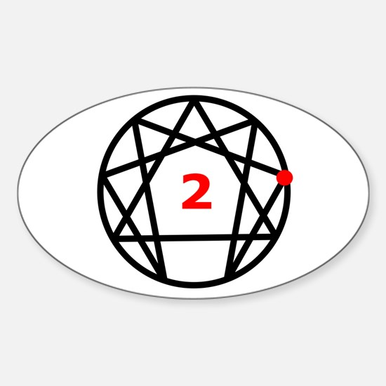 Enneagram Type 2 Oval Decal