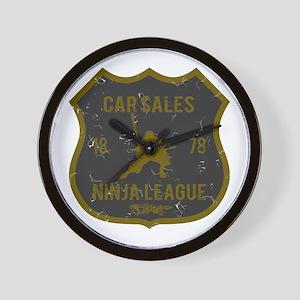 Car Sales Ninja League Wall Clock