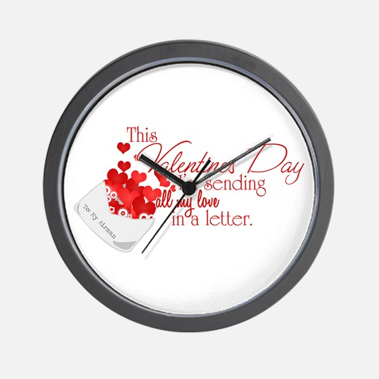 Love Letters (Airman) Wall Clock